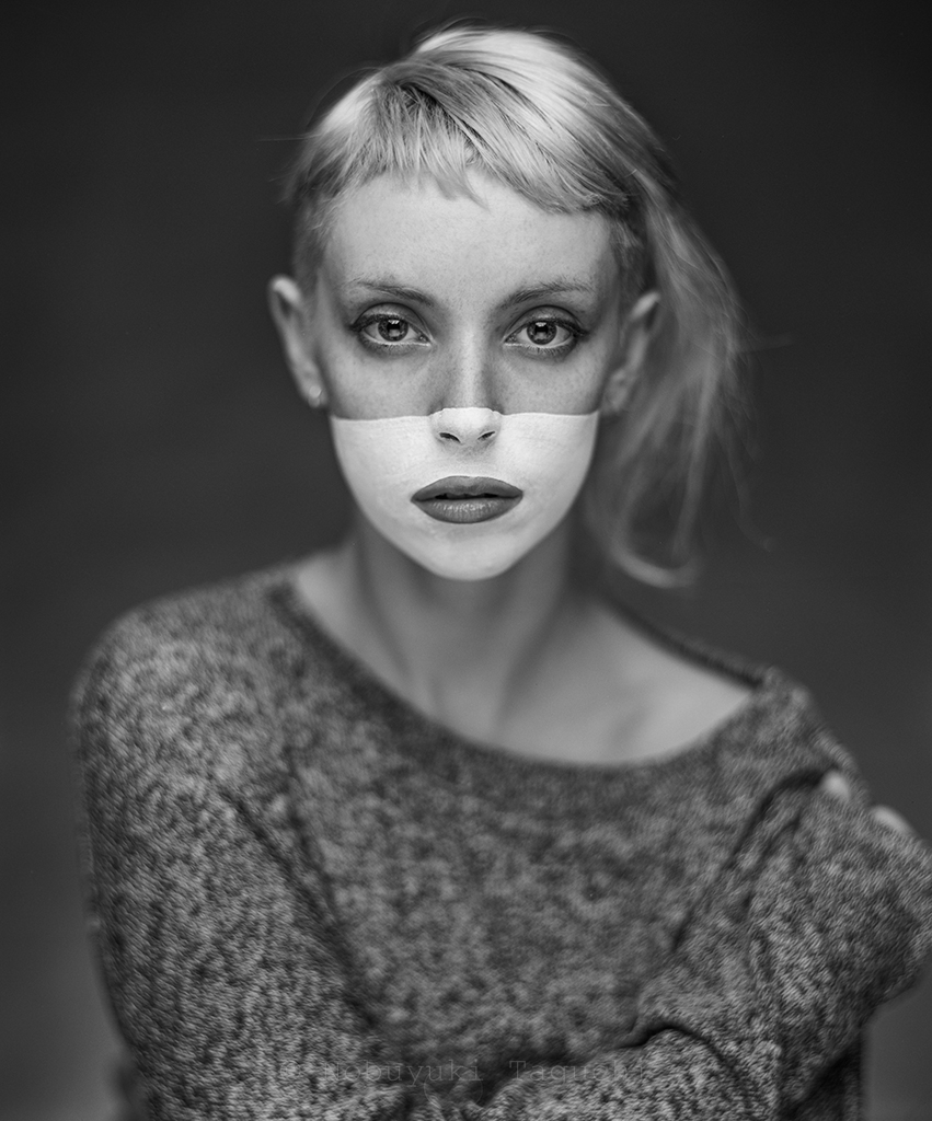 Portrait - Large Format - Sofie Face Half White