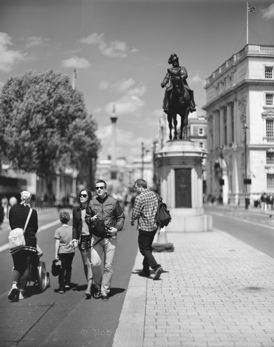 London by 5x4 (4x5) Large Format with Aero Ektar - Statue of Prince George, Duke of Cambridge