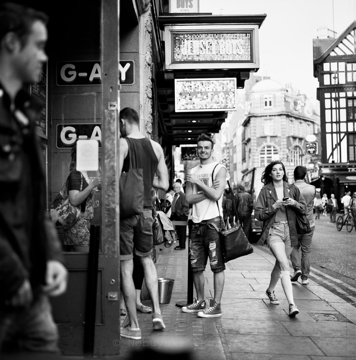 Street Photography London 120 Film  - G-A-Y Bar - Old Compton St, London
