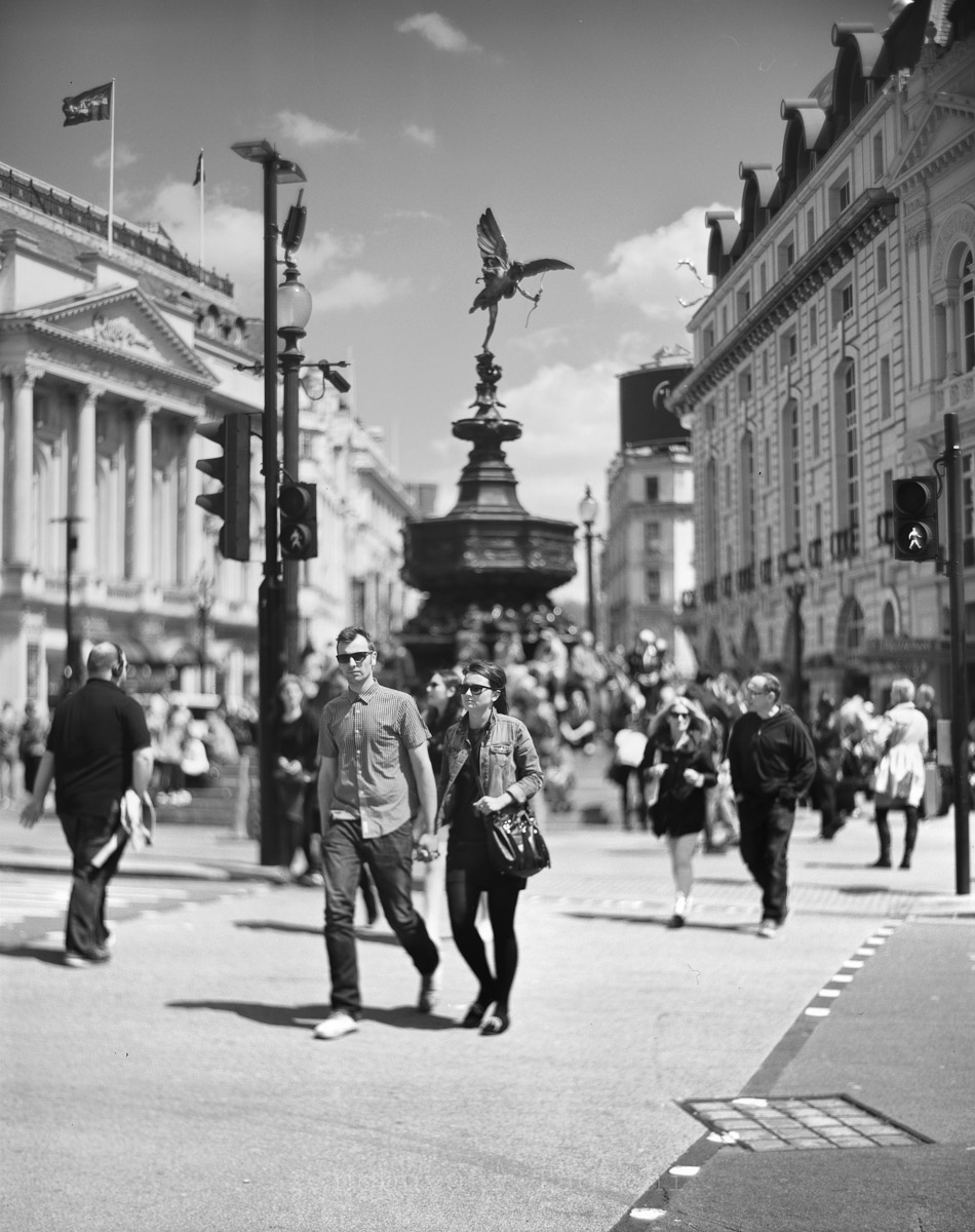London by 5x4 (4x5) Large Format with Aero Ektar - Piccadilly Circus