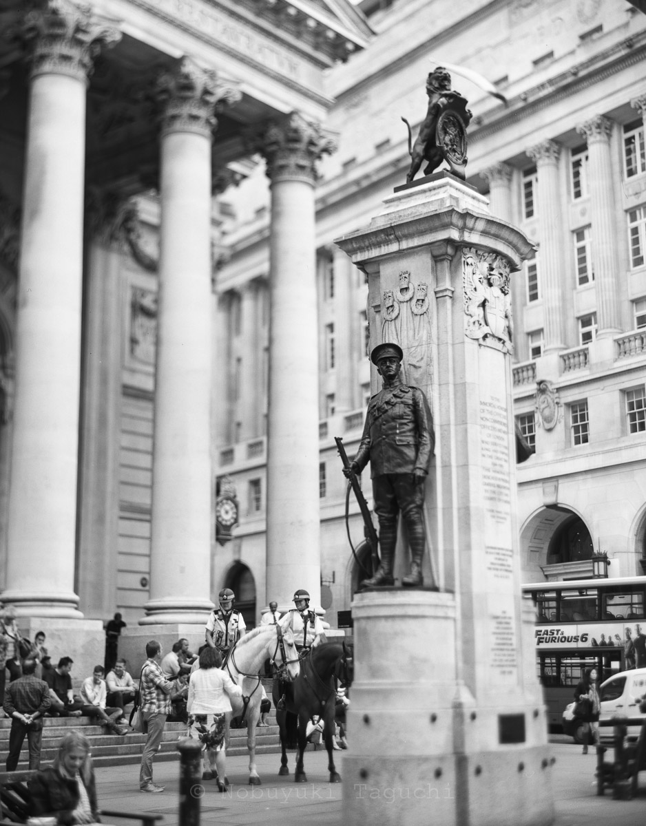London by 5x4 (4x5) Large Format with Aero Ektar - The Royal Exchange in London